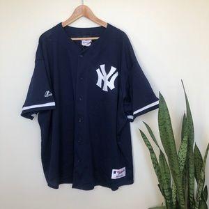 New York Yankees Vintage Majestic Baseball Jersey